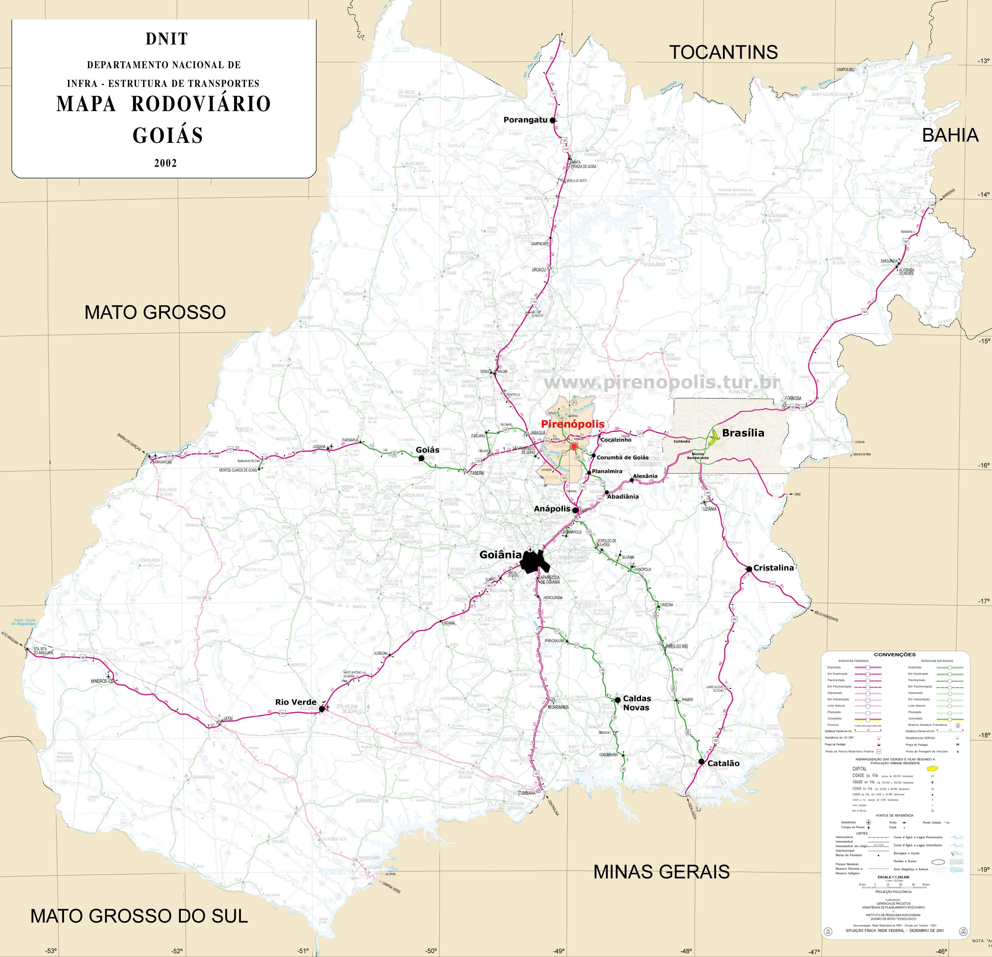 Mapas e Grficos  Pirenpolis  Gois  Brasil
